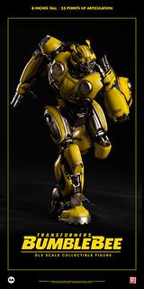 博派的年輕偵察兵,戰場突入! threeA DLX比例收藏級系列《大黃蜂》大黃蜂 Bumblebee 8 吋可動人偶作品