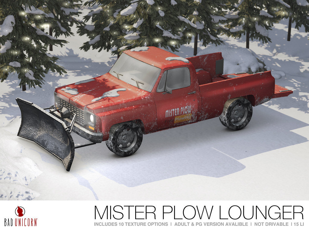 NEW! Mister Plow Lounger @ The Mens Dept - TeleportHub.com Live!