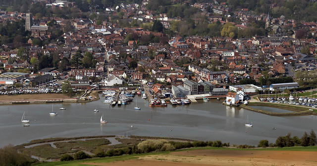 Woodbridge on the River Deben - aerial