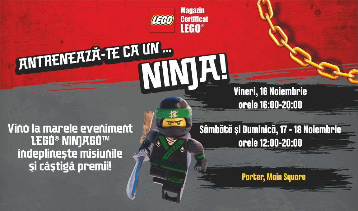 Eveniment LEGO® Ninjago in ParkLake Shopping Center
