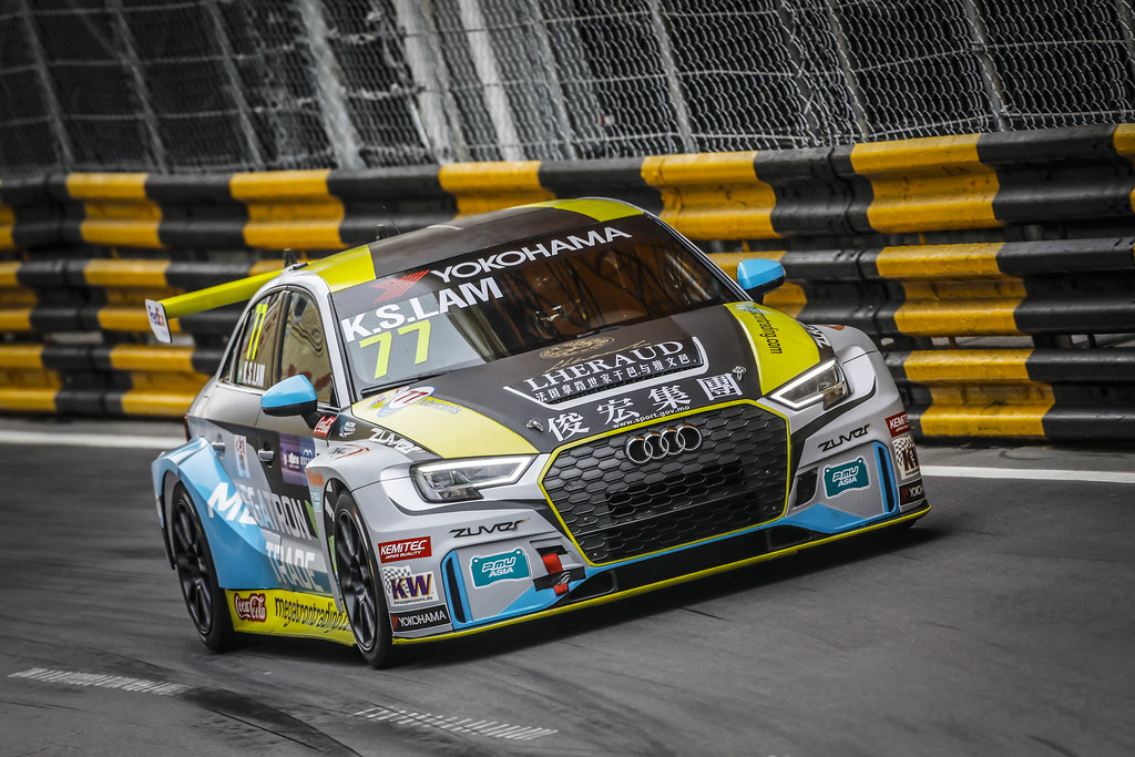 77 Lam Kam San (MAC), Champ Motorsport, Audi RS 3 LMS, action during the 2018 FIA WTCR World Touring Car cup of Macau, Circuito da Guia, from november  15 to 18 - Photo Francois Flamand / DPPI