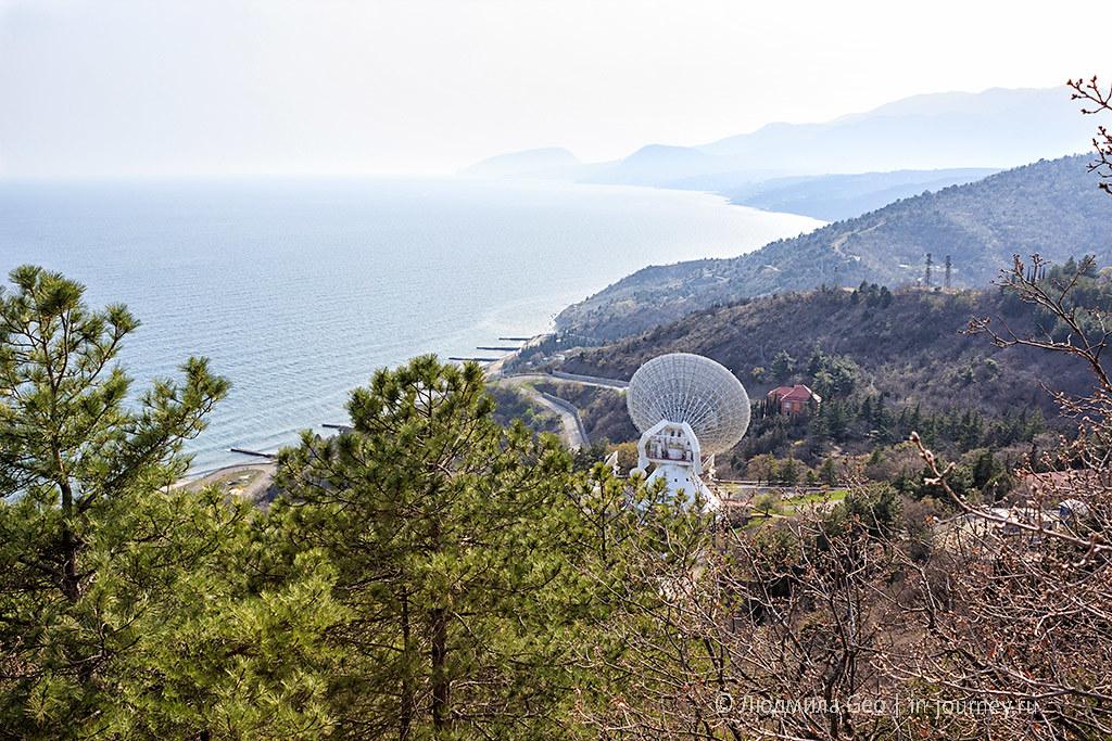 радиотелескоп в поселке Сатера в Крыму