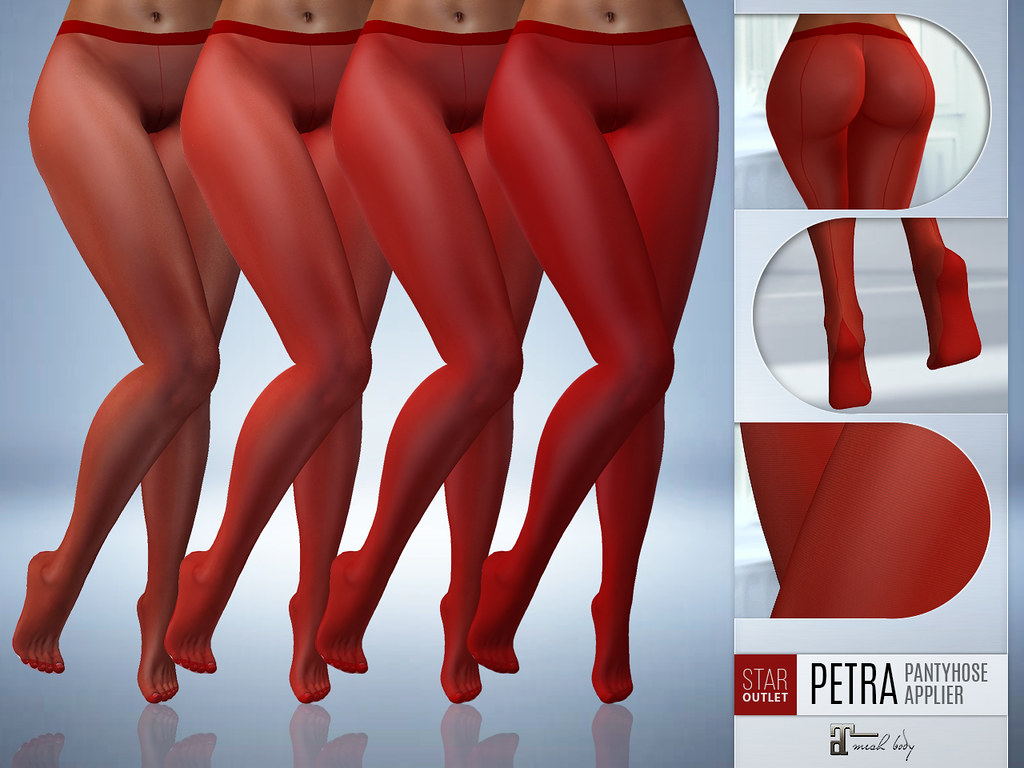 NEW RELEASE! Star Outlet Pantyhose Petra Red - Maitreya Applier (4 in pack in different denier) - TeleportHub.com Live!