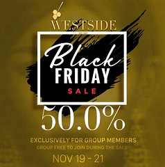 WESTSIDE's Black Friday Sale 2018