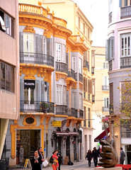 Golden streets of Malaga