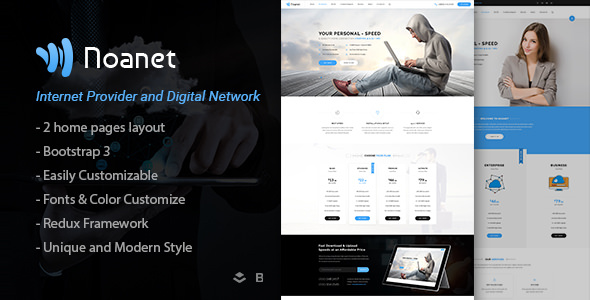 Noanet v1.3 – Internet Provider And Digital Network