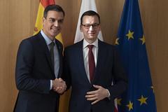 Reunión de Sánchez y el primer ministro de Polonia, Mateusz Mrawiecki (14/12/2018)