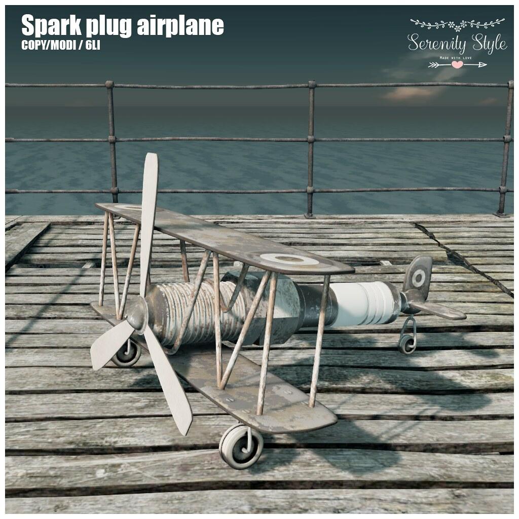 Serenity Style- Spark Plug Airplane