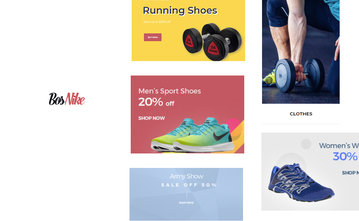 Bos Nike - modern theme for fashion, shoes, sport gear store