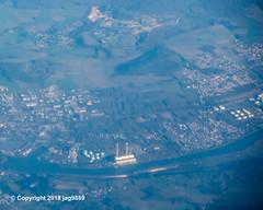 Porcheville Thermal Power Plant (1968-2017) on the Seine River, Île-de-France, France