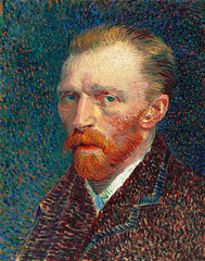 Self-Portrait (1887) by Vincent Van Gogh. Original from the Art Institute of Chicago. Digitally enhanced by rawpixel.