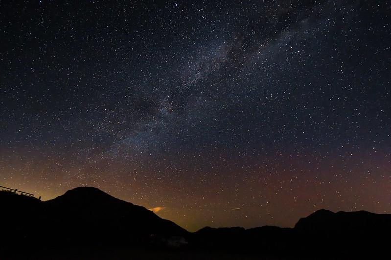 合歡山的夜空