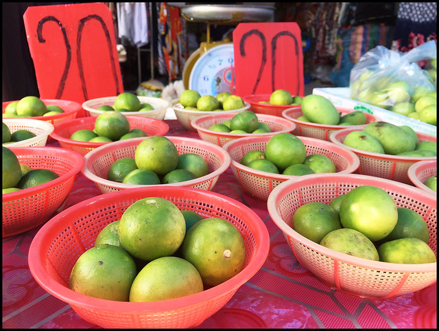 Limes for sale at the market