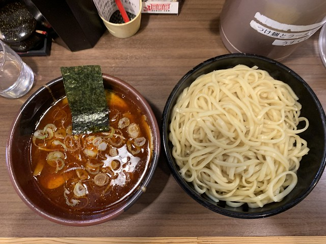Photo:tsukemen (large, spicy) at takeya, chitose karasuyama By nakashi
