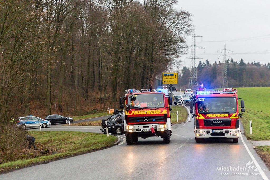 Schwerer Kreuzungsunfall L3018 Hofheim 12.01.19