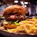 Burger w/ Capicola, Prosciutto, Mozzarella, Seasoned Lettuce - Table 9