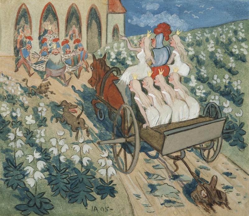 Ivar Arosenius - The story of the six princesses, 1905, iillustration 3