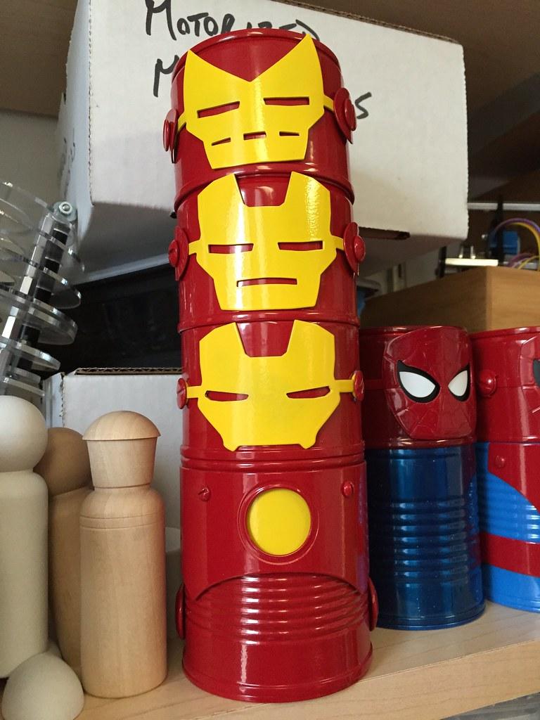 Iron Man Totem Pole
