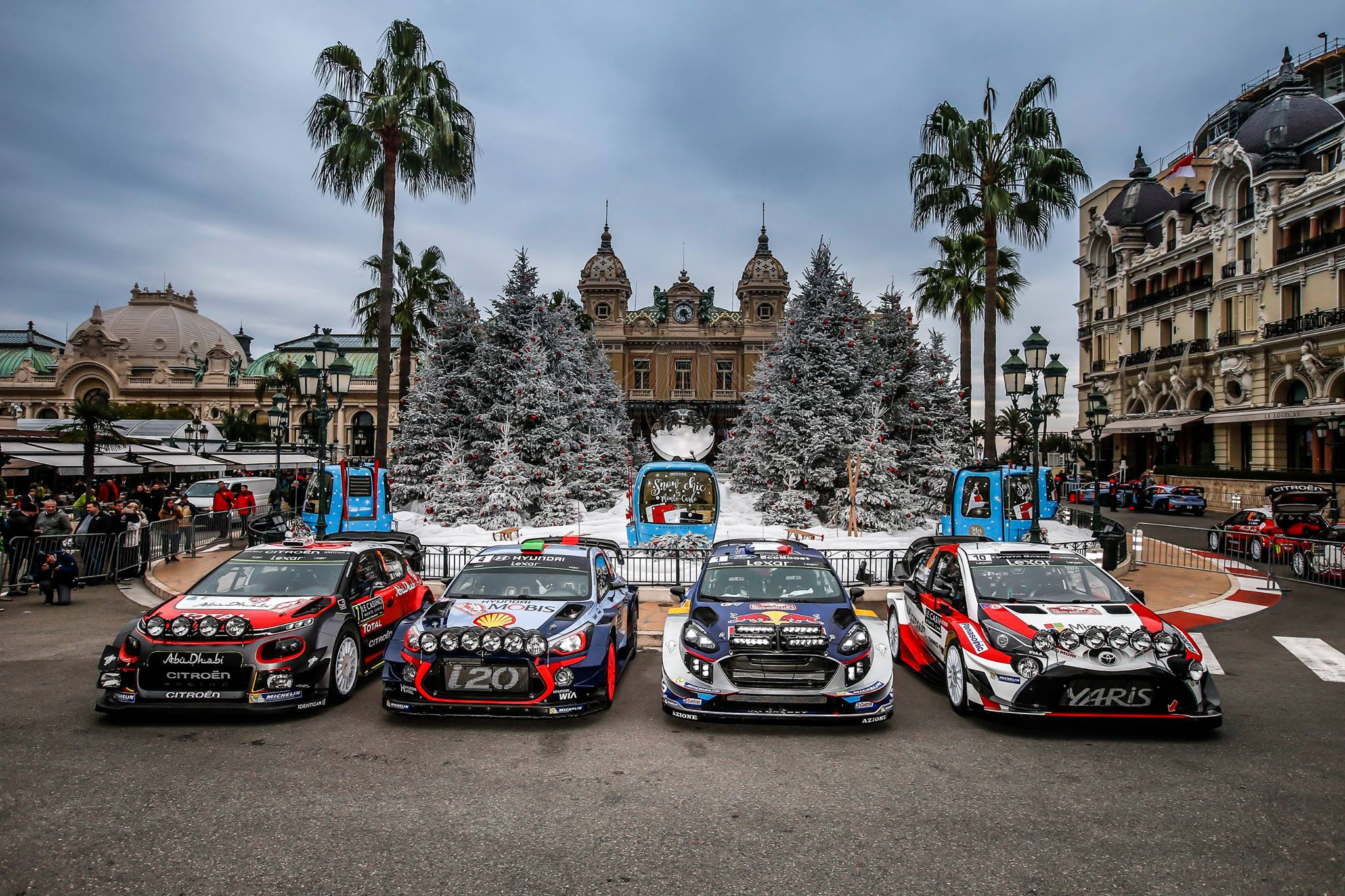 Cars at the 2017 Monte Carlo Rally.