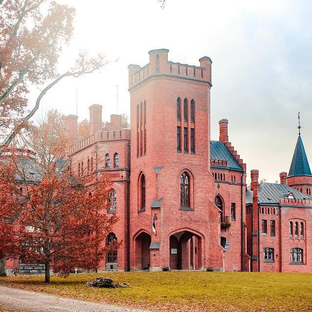 Castillo de Sangaste en Estonia