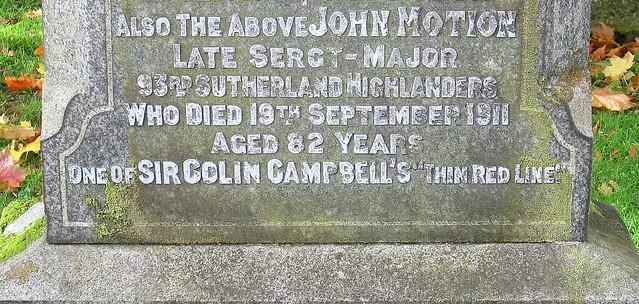 War Inscription, Rhu Graveyard