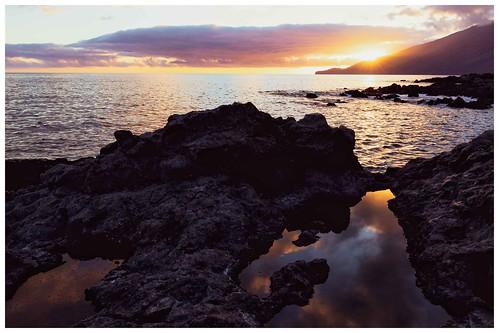 Sunset On A Volcanic Coast