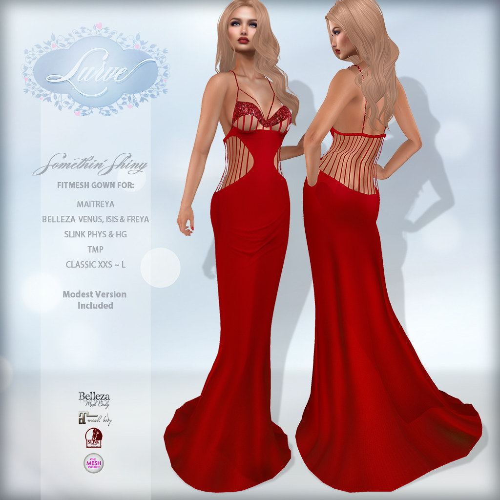 *Lurve* Somethin' Shiny Gown in Red