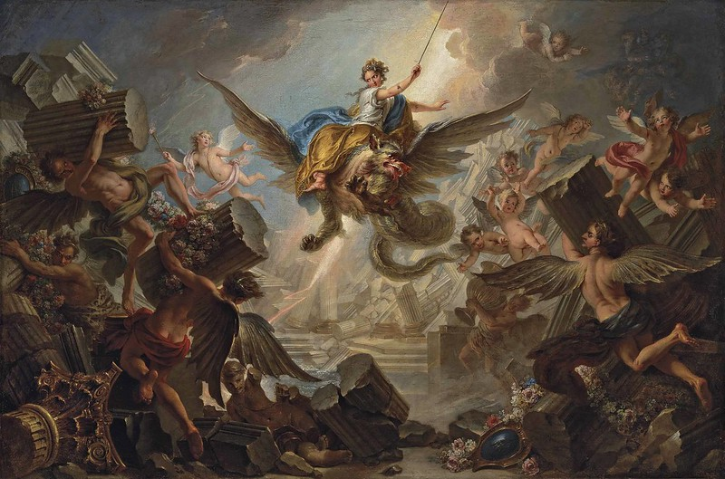 Charles-Antoine Coypel - The Destruction of the Palace of Armida