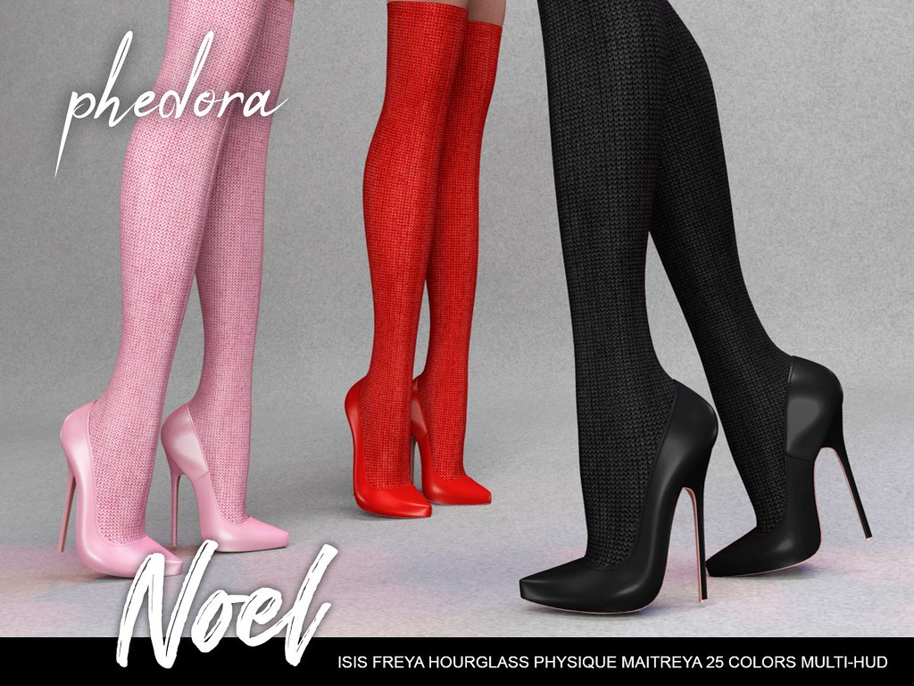 "Phedora. for Uber Event – ""Noel"" socks& heels (one piece/ cannot be worn separately)"