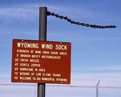 Wyoming wind sock.