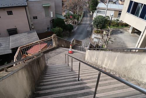 飯能中央公民館 裏階段