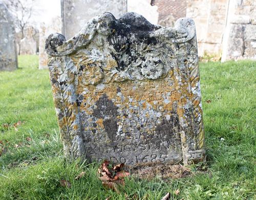 Elizabeth Meadway 1685 headstone, Litton Cheney