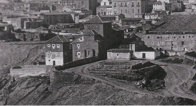 Convento de San Gil en 1857. Detalle de una foto editada por Charles Soulier