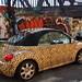 Leopard-print Beetle with wall art, Shoreditch, London E1