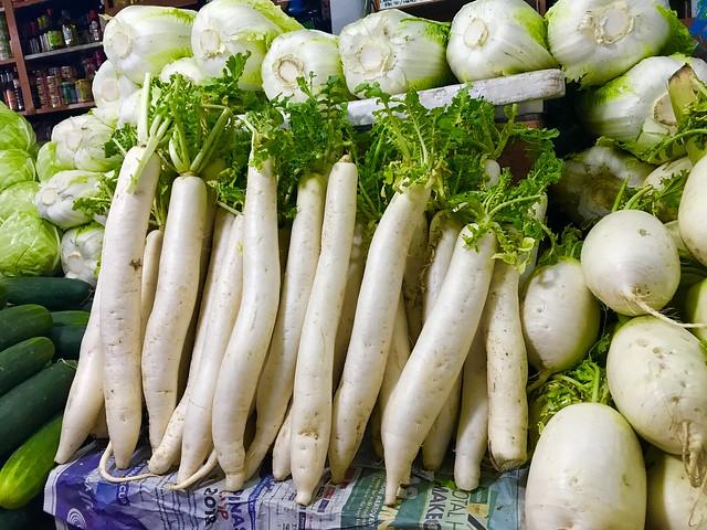 Farmers market, labanos