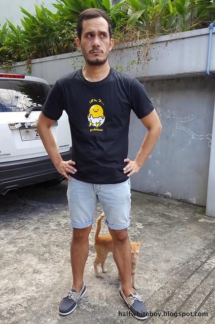 halfwhiteboy - gudetama t-shirt and shorts 01