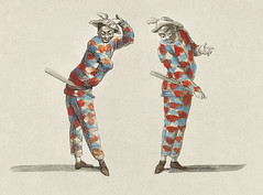 Vintage illustration of Harlequin published in 18th century. Original from New York public library. Digitally enhanced by rawpixel.
