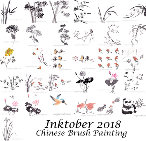 inktober 2018 Chinese brush painting