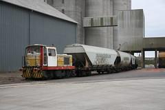 Moyse 1  werklok bij de 2de graanoverslag van Interval bij Gray op 12/010/2011.