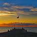 Pier at dusk por oceanzam