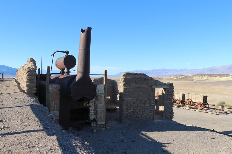 Old boiler at the Harmony Borax Works in Death Valley