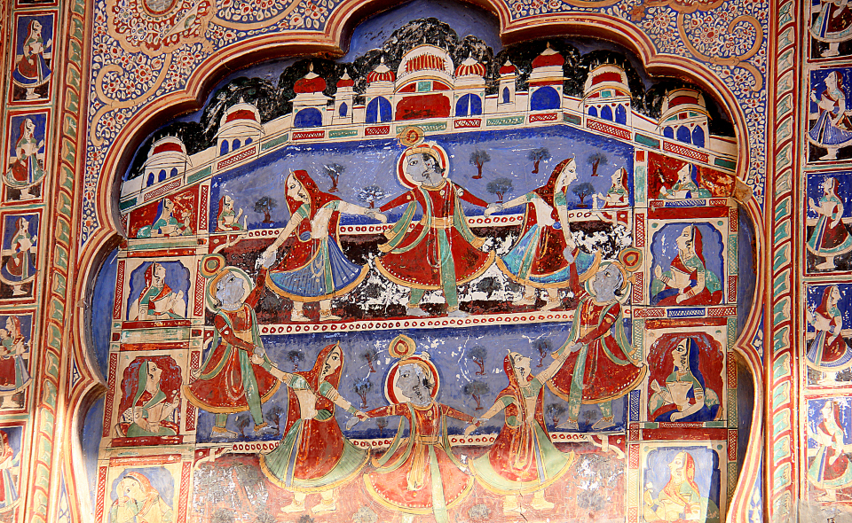 shekhawati murals have mythological themes