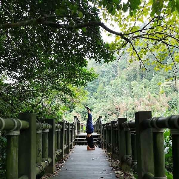 201801111 來一下 #蓬萊溪護魚步道 #倒立世界 #我喜歡倒立在哪裡都可以 #headstand #iloveheadstands #攝手老戴