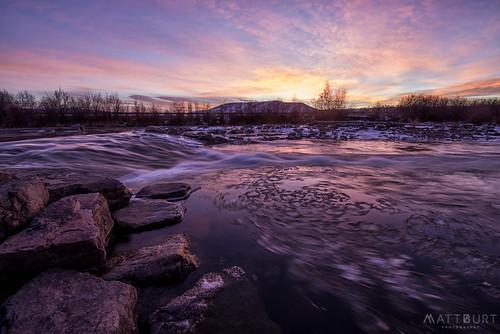 clouds ice reflection sky sunrise swirl vortex whitewaterpark