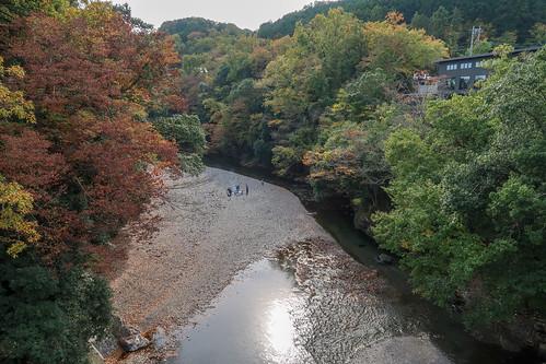 割岩橋からの飯能河原