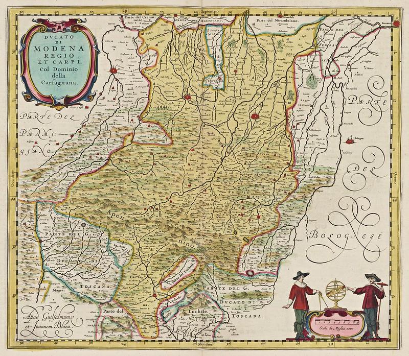 Joan Blaeu - Ducato di Modena, Regio et Carpi (1665)
