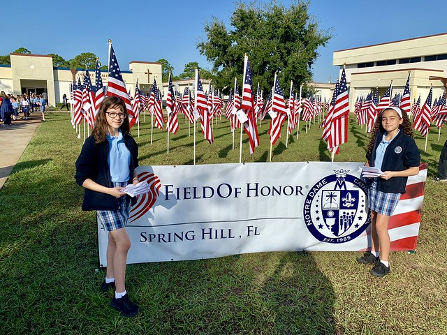 2018 Notre Dame Catholic School Celebrates Veterans Day