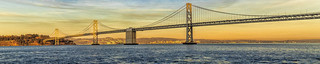 Bay Bridge Sunset Pano