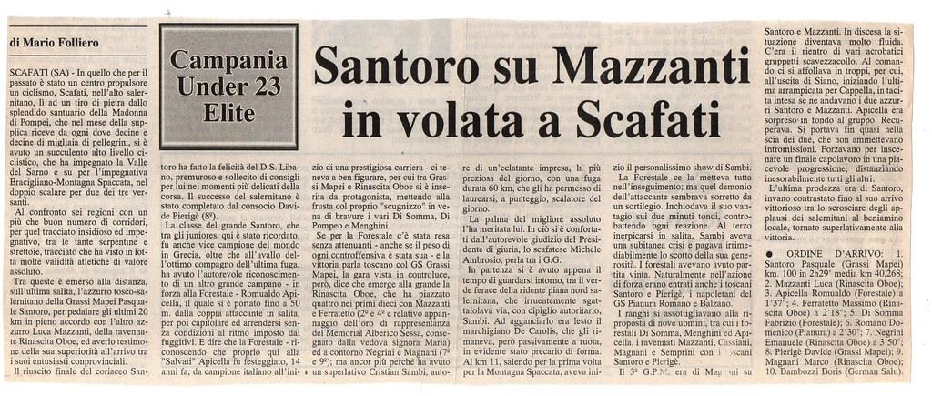 Santoro su Mazzanti in volata a Scafati