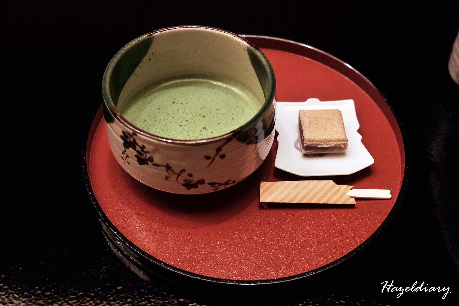 kaiseki soujuan keio plaza hotel tokyo- green tea